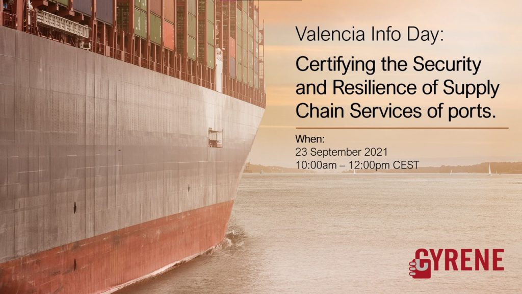 Banner for CYRENE Info Day by Valencia Port