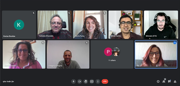screenshot from the 4th virtual project plenary meeting